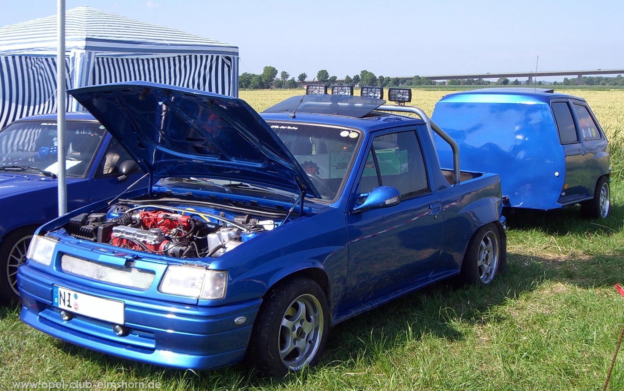 Opeltreffen Brunsbüttel Opelfreunde 2008 - 20080704_162554 - Corsa A Pickup Umbau