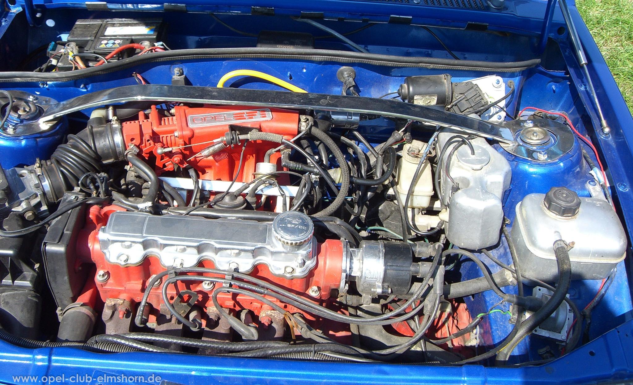 Opeltreffen Brunsbüttel Opelfreunde 2008 - 20080704_162612 - Corsa A Motorraum
