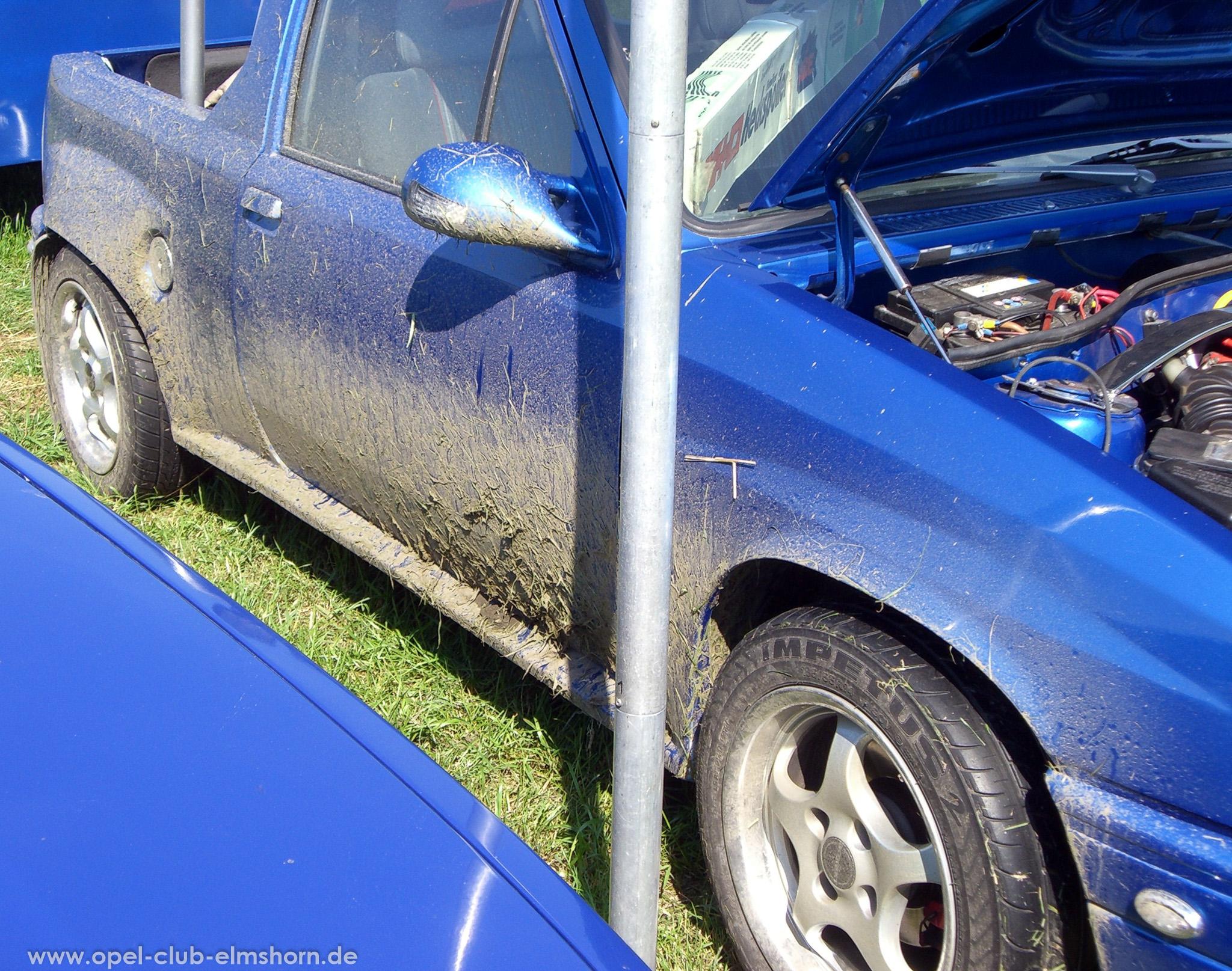 Opeltreffen Brunsbüttel Opelfreunde 2008 - 20080704_162632 - Dreck am Corsa