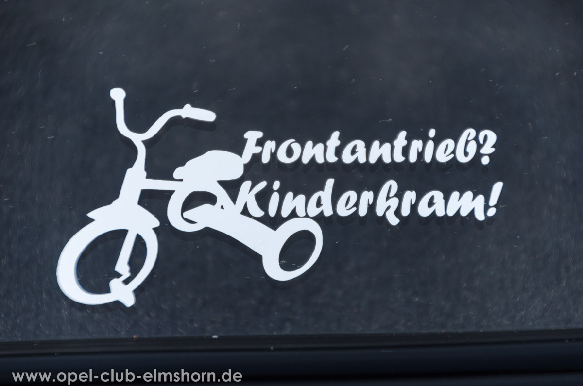 Wedel-2014-0114-Fazit-des-Tages-Frontantrieb-Kinderkram