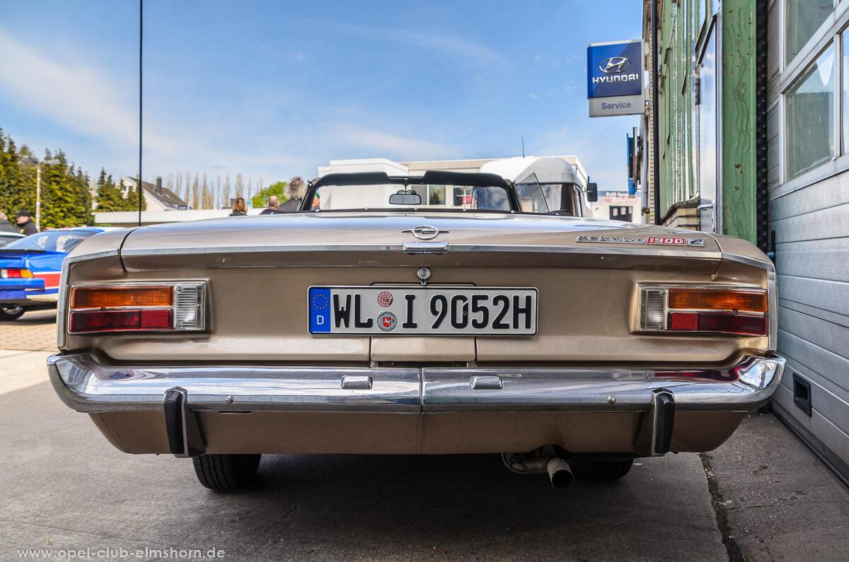Altopeltreffen-Wedel-2016-20160501_114111-Opel-Rekord-C-Cabrio-Deutsch-Heck