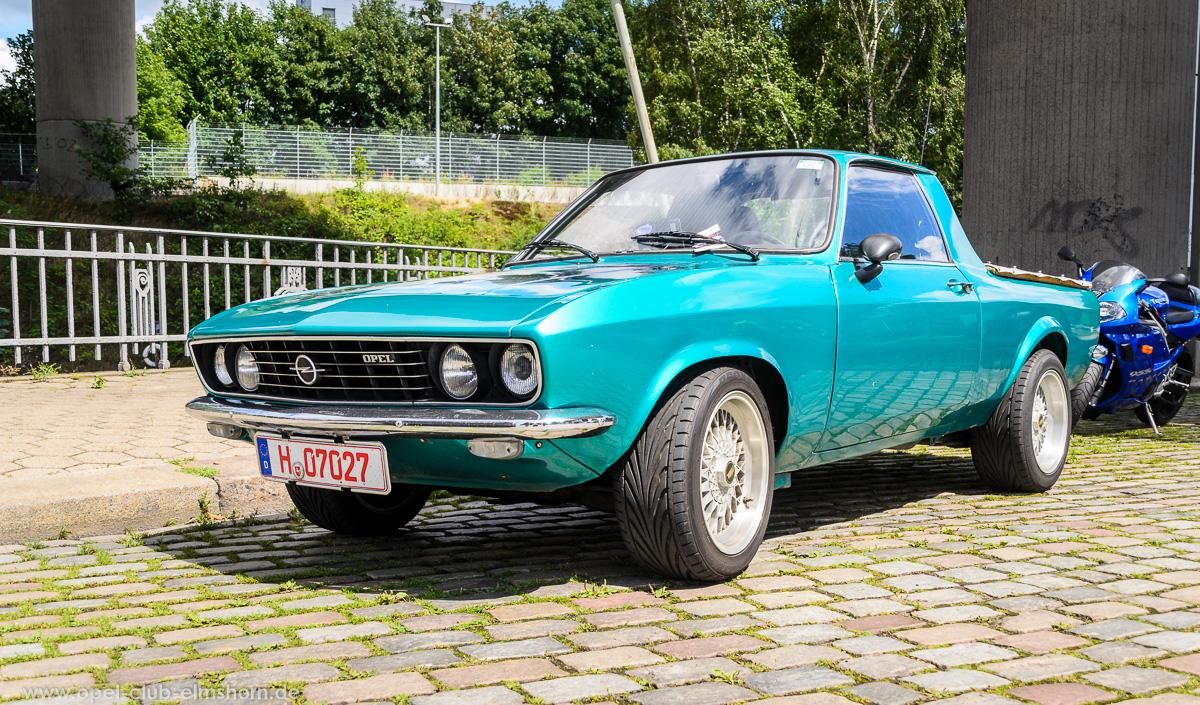 Altopeltreffen-Oldtimertankstelle-Hamburg-2016-20160709_134218-Opel-Manta-A-Pickup