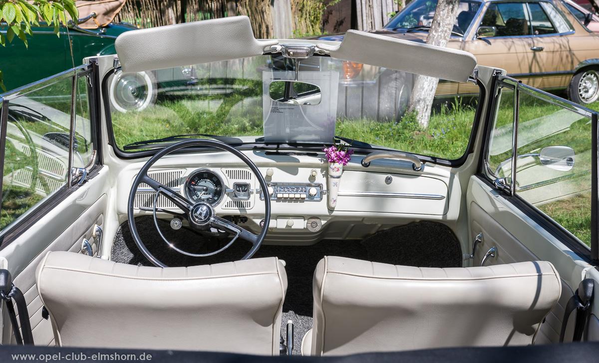 Oldtimertreffen-Rosengarten-2017-20170514_111601-VW-Käfer-Cabrio-Cockpit