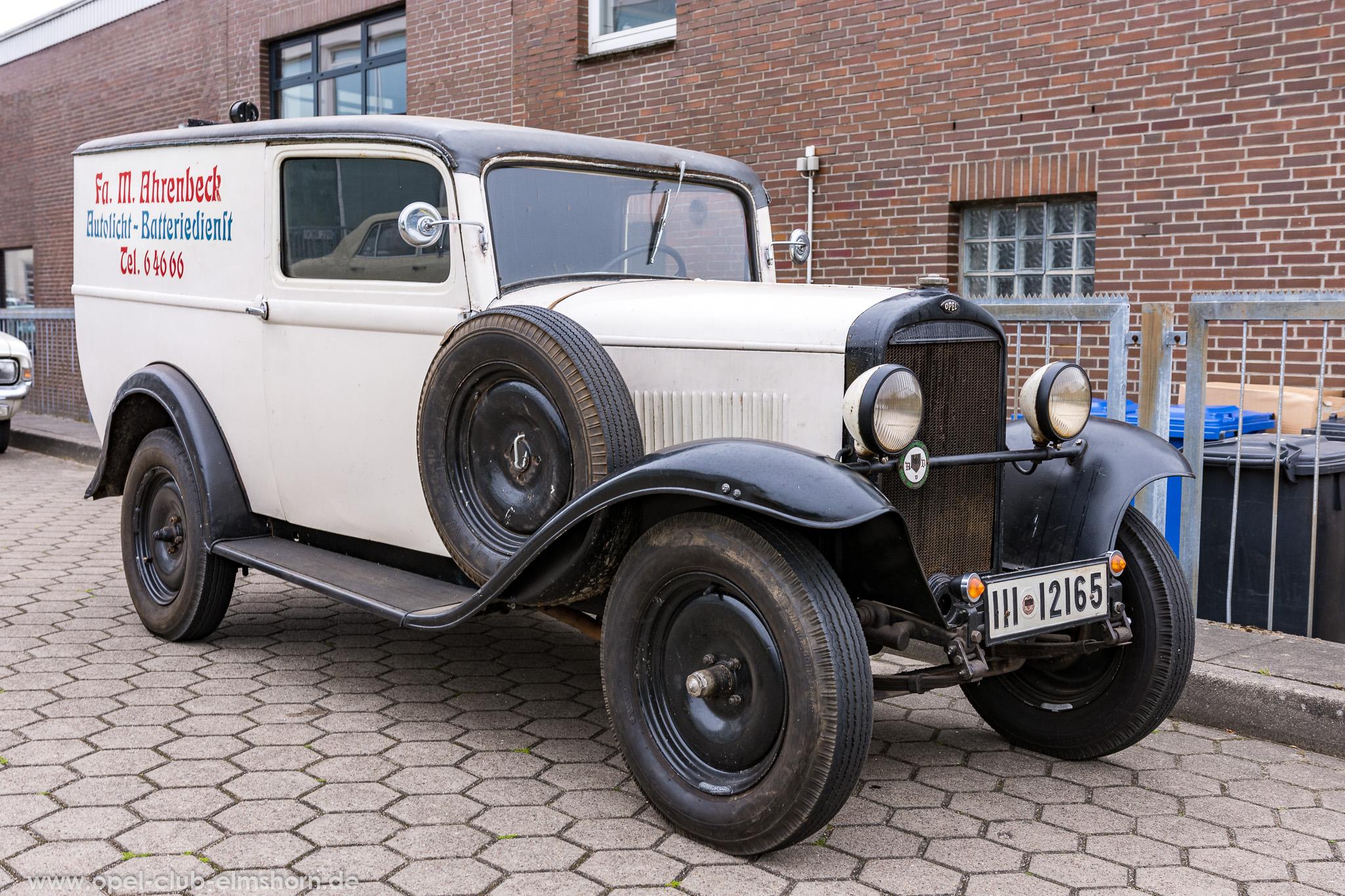 Altopeltreffen Wedel 2019 - 20190501_114004 - Opel 1.2 Liter